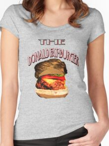 """The Donald Fat-Burger"" Women's Fitted Scoop T-Shirt"