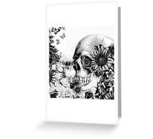Reflection. Skull landscape Greeting Card