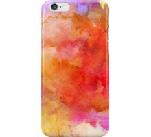 ink style of orange watercolour texture iPhone Case/Skin