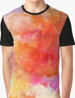 ink style of orange watercolour texture Graphic T-Shirt