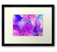 ink style of purple watercolour texture Framed Print