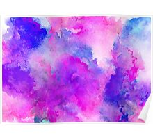 ink style of purple watercolour texture Poster