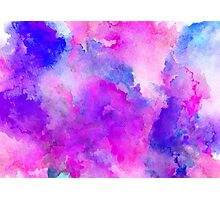 ink style of purple watercolour texture Photographic Print
