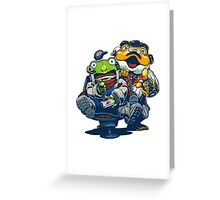 Star Fox Guard - Grippy and Slippy Greeting Card