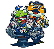 Star Fox Guard - Grippy and Slippy Photographic Print