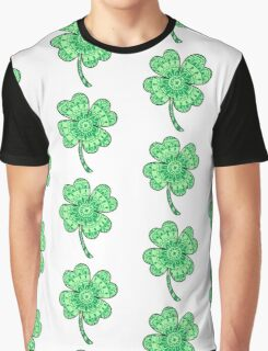 Mandala Four Leaf Clover Graphic T-Shirt