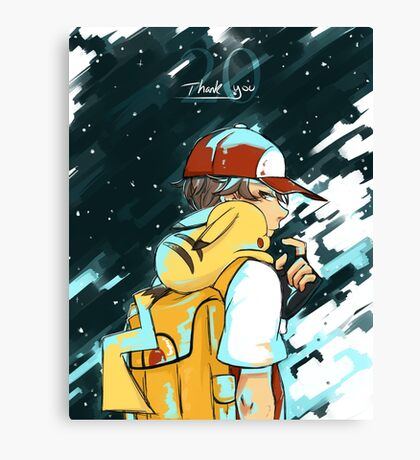 Pokemon-Thank You for 20 Years! Canvas Print
