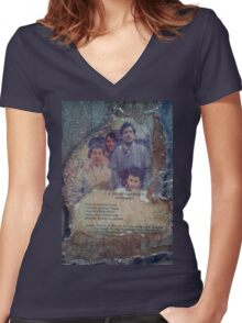 When father was away on business  Women's Fitted V-Neck T-Shirt