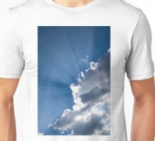Blue Sky and Sunbeams Unisex T-Shirt