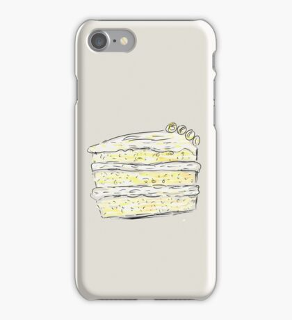 Layer Cake With Cream (Sketch) iPhone Case/Skin