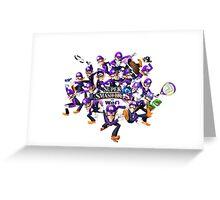 Super WAH Bros. Greeting Card