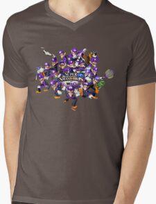 Super WAH Bros. Mens V-Neck T-Shirt