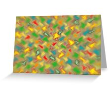 Warm Brush Strokes Greeting Card
