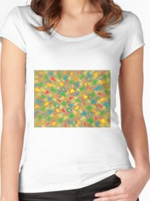 Warm Brush Strokes Women's Fitted Scoop T-Shirt