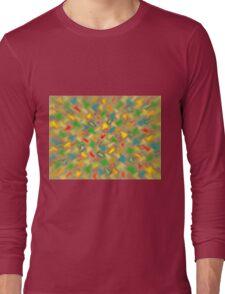 Warm Brush Strokes Long Sleeve T-Shirt