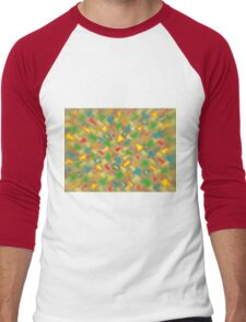 Warm Brush Strokes Men's Baseball ¾ T-Shirt