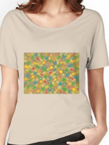 Warm Brush Strokes Women's Relaxed Fit T-Shirt