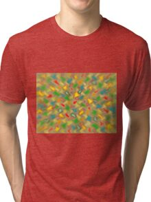 Warm Brush Strokes Tri-blend T-Shirt
