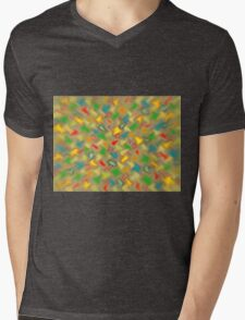 Warm Brush Strokes Mens V-Neck T-Shirt