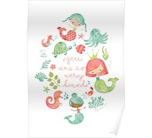 Under the Sea Mermaids Poster