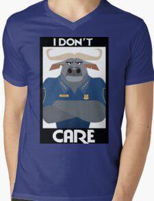 Minimalist Water Buffalo Mens V-Neck T-Shirt
