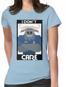 Minimalist Water Buffalo Womens Fitted T-Shirt