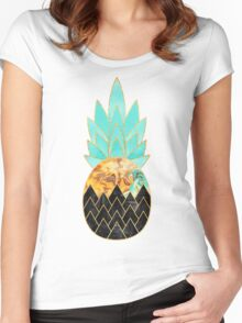 Precious Pineapple 3 Women's Fitted Scoop T-Shirt