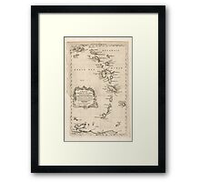 American Revolutionary War Era Maps 1750-1786 083 A map of the Caribbee Islands shewing which belong to England France Spain Dutch & Danes collected from the Framed Print