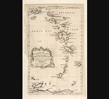 American Revolutionary War Era Maps 1750-1786 083 A map of the Caribbee Islands shewing which belong to England France Spain Dutch & Danes collected from the Unisex T-Shirt