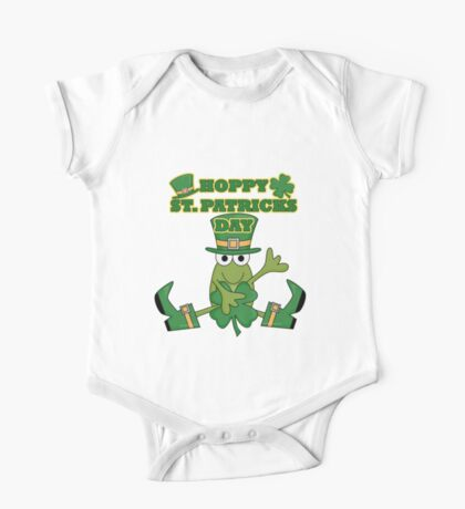 Frog Hoppy St. Patricks Day One Piece - Short Sleeve