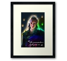 """""""The Commander's Fight Goes On"""" – Rainbow version Framed Print"""