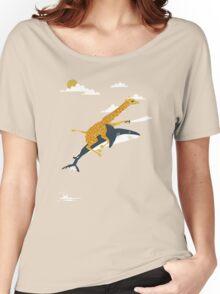 giraffe and shark Women's Relaxed Fit T-Shirt