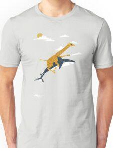 giraffe and shark Unisex T-Shirt