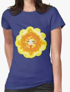 Abstract Sun Womens Fitted T-Shirt