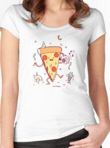 It's a party T-shirt femme moulant à col profond