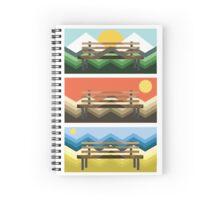 Scenes & Bench Spiral Notebook
