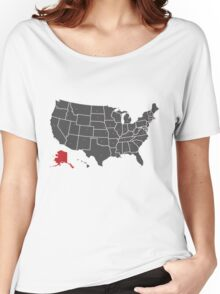 Map of USA ALASKA state Women's Relaxed Fit T-Shirt