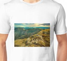 Looking east from Mount Howitt Unisex T-Shirt