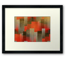 Abstract City Sunset Framed Print
