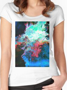 Abstract 41 Women's Fitted Scoop T-Shirt