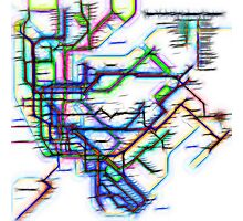 NYC Subway Map Photographic Print