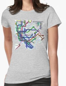 NYC Subway Map Womens Fitted T-Shirt