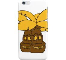2 comic cartoon funny sweet small cute palm face, grinning monster iPhone Case/Skin