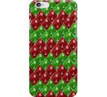 Red and  Green Scale Dice D8 Zig Zag iPhone Case/Skin