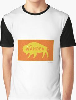 Wander the Buffalo Graphic T-Shirt
