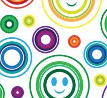 Happy Circles Sticker