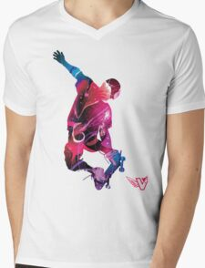 Skateboarding is Life. Mens V-Neck T-Shirt