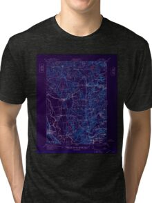 New York NY Lowville 130368 1913 62500 Inverted Tri-blend T-Shirt