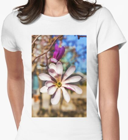 Magnolia – Impressions Of Spring Womens Fitted T-Shirt