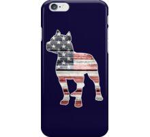 Patriotic Pitbull, American Flag iPhone Case/Skin
